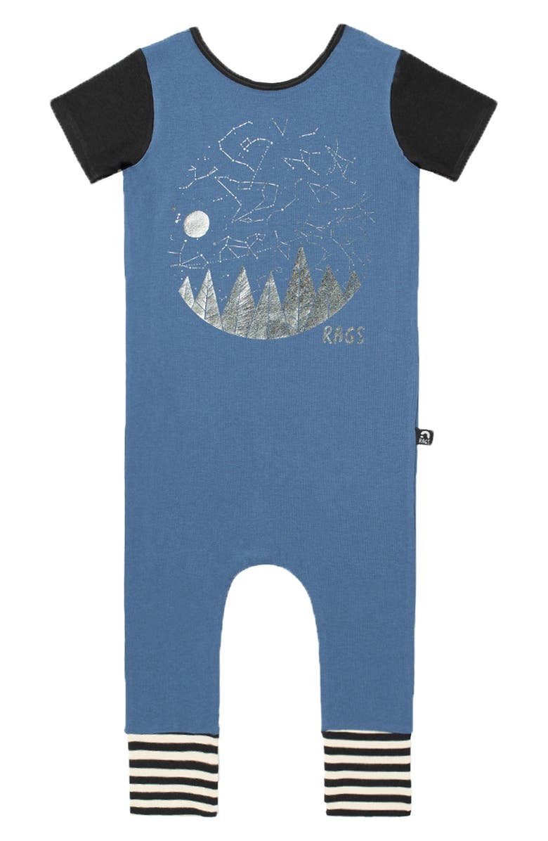 RAGS Starry Night Romper, Main, color, 400