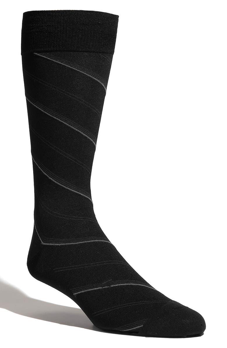 CALIBRATE 'European Diagonal Stripe' Socks, Main, color, 001
