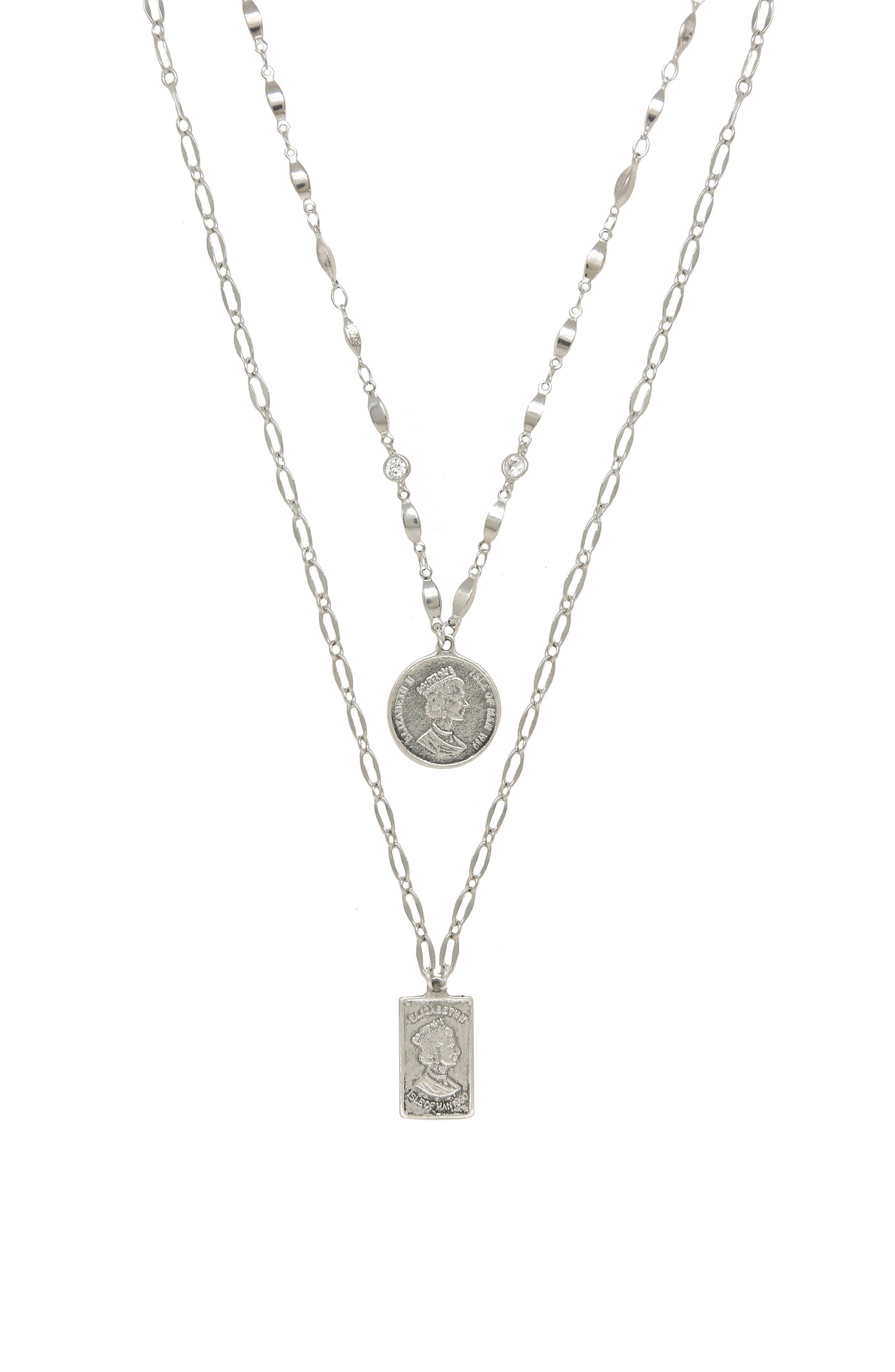 Set Of 2 Pendant Necklaces