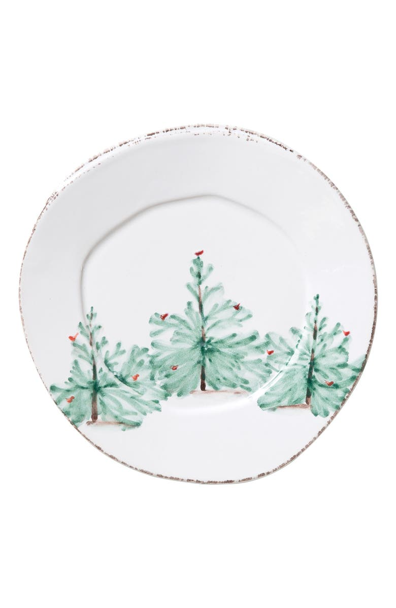 VIETRI Lastra Holiday Salad Plate, Main, color, 360