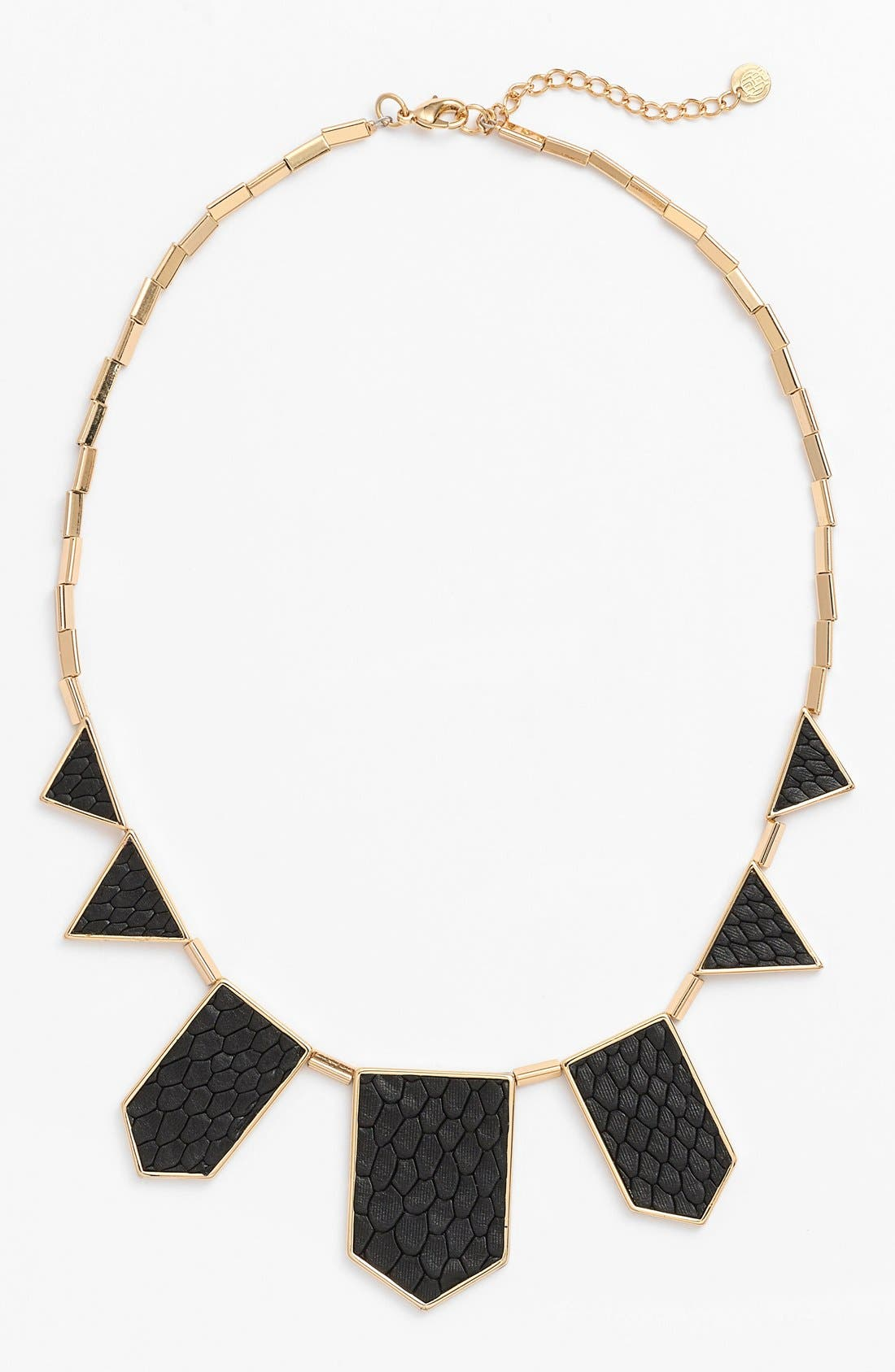 ,                             Leather Station Necklace,                             Main thumbnail 5, color,                             002