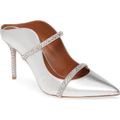 Malone Souliers Maureen Crystal Embellished Mule, Metallic