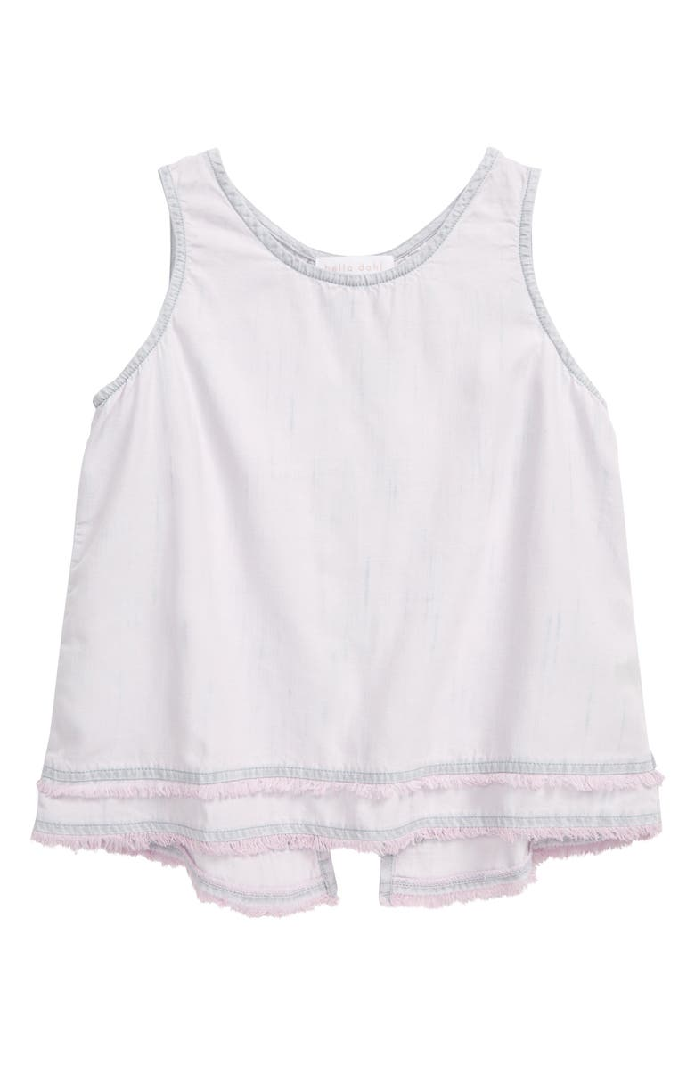 BELLA DAHL Fray Split Back Tank, Main, color, SWEET ROSE