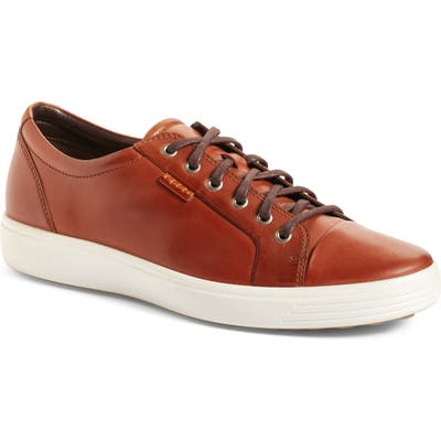 Ecco Soft Vii Lace-Up Sneaker - Brown