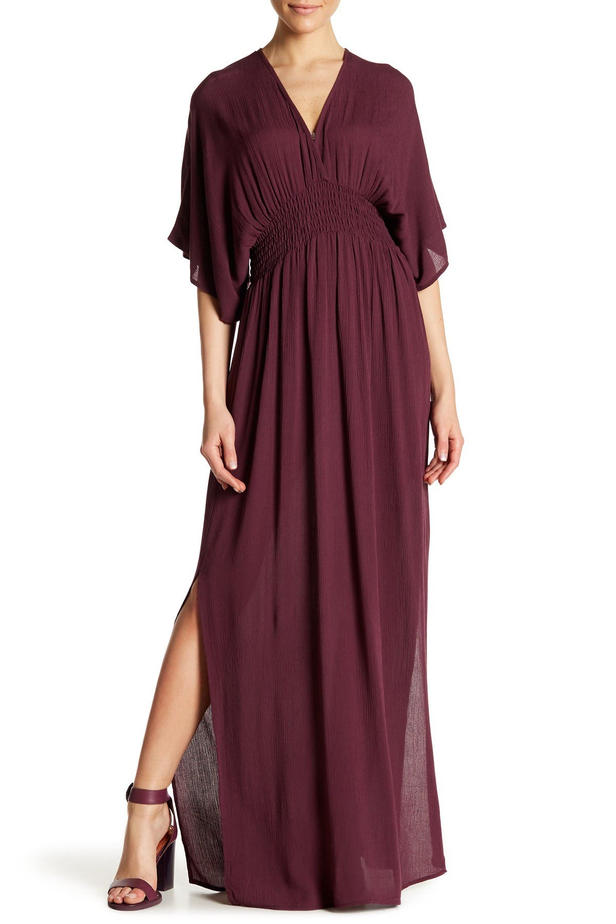 Image of Love Stitch Gauze Kimono Maxi Dress