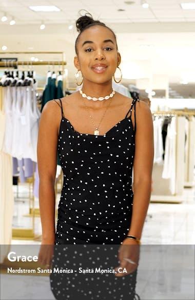 Fluted Hem Stretch Piqué Sheath Dress, sales video thumbnail