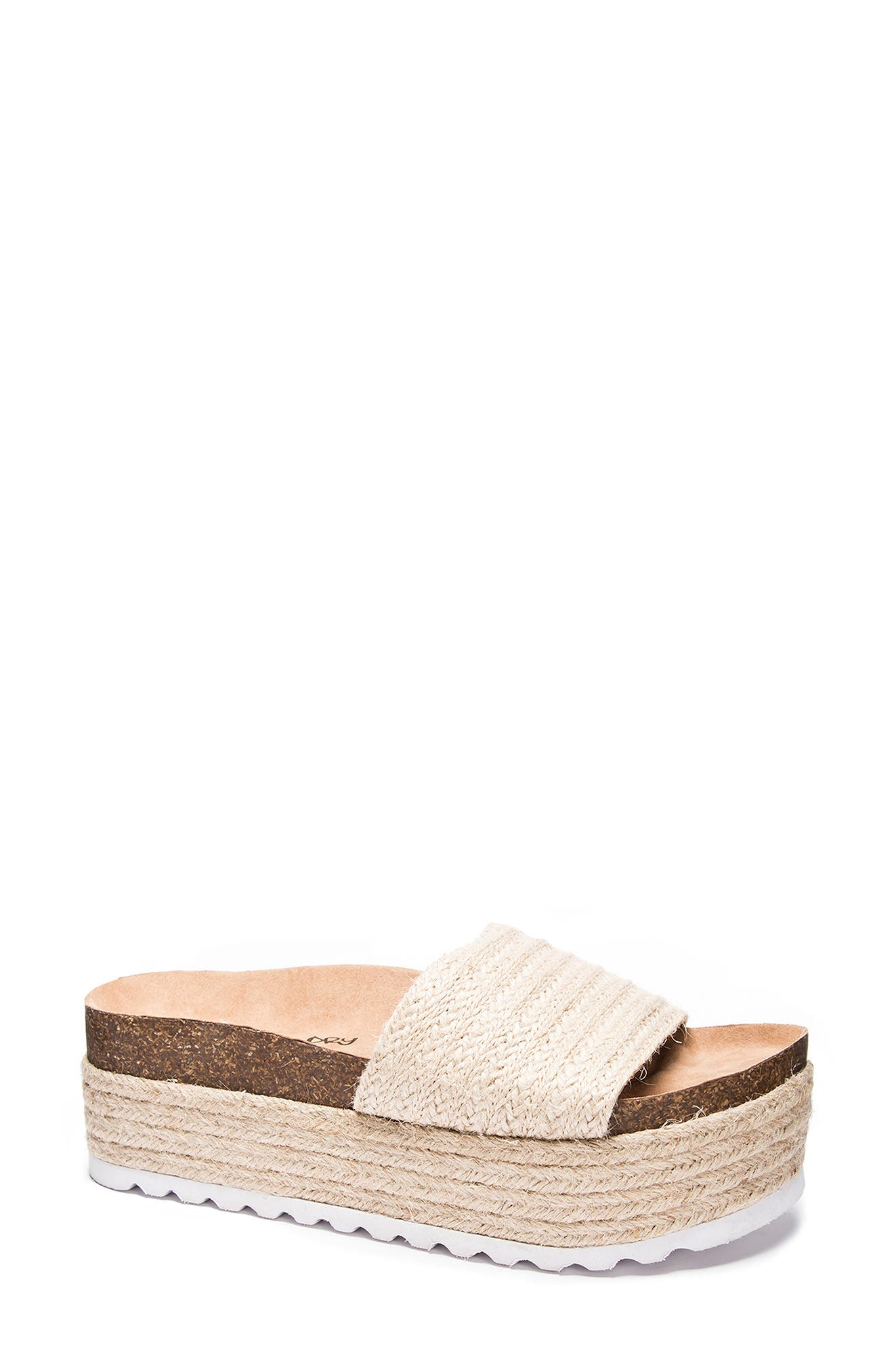 Palm Desert Platform Espadrille Slide Sandal