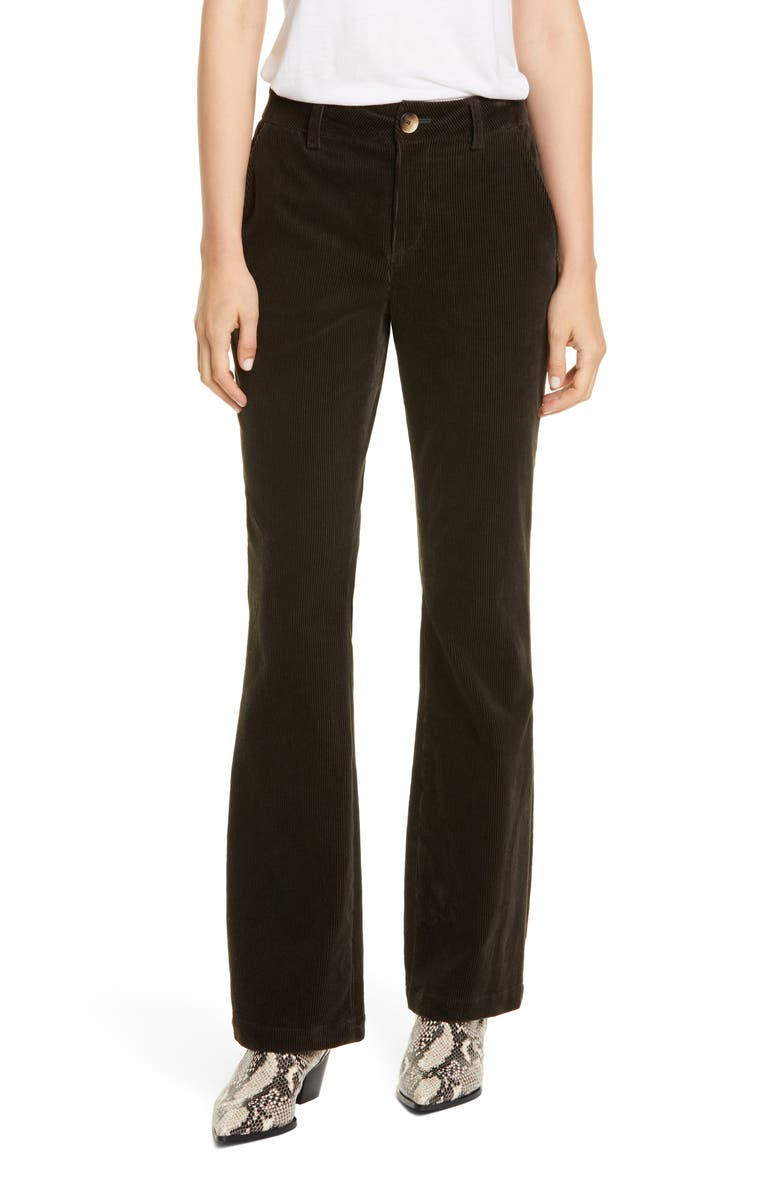 TRAVE Sloan Bootcut Corduroy Pants, Main, color, GREEN RIVER