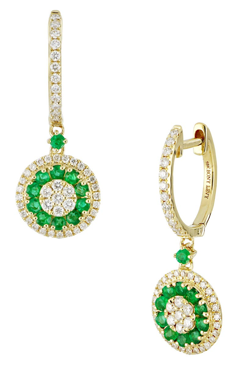 Diamond Emerald Drop Earrings Main Color