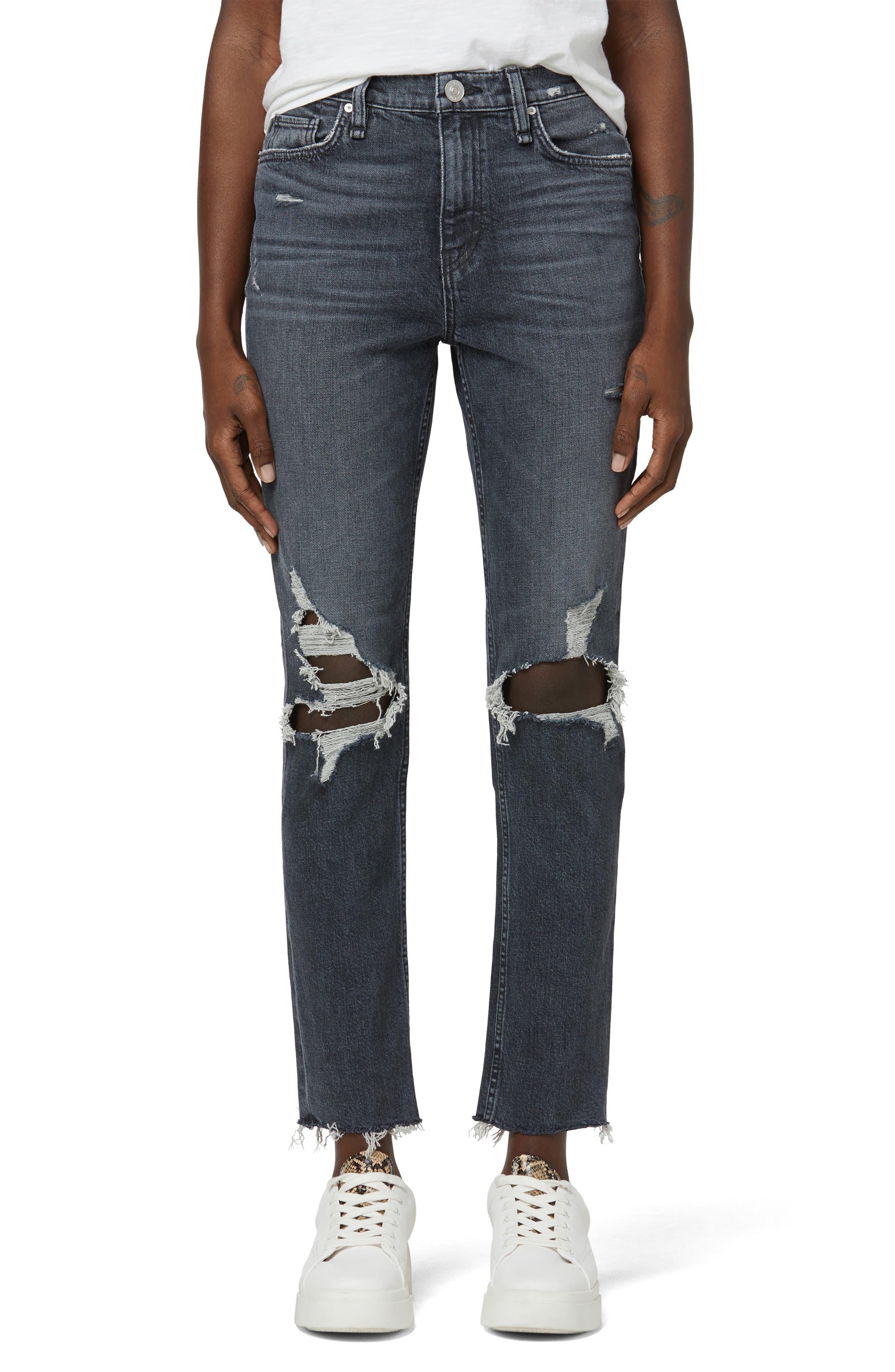 Holly High Waist Ankle Straight Leg Jeans