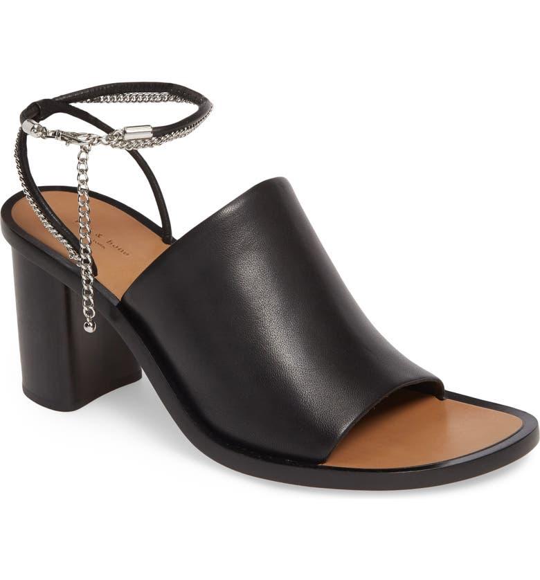 RAG & BONE Nella Sandal, Main, color, BLACK