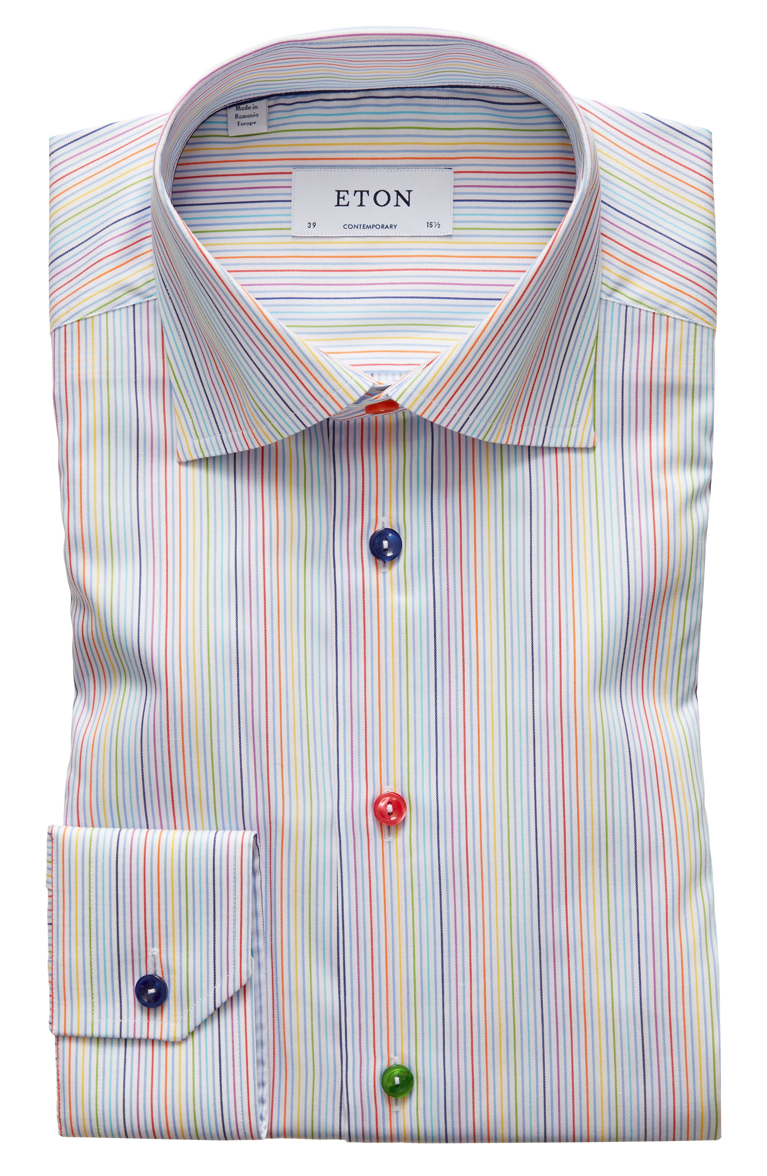 Eton Mens Contemporary Fit Stripe Shirt
