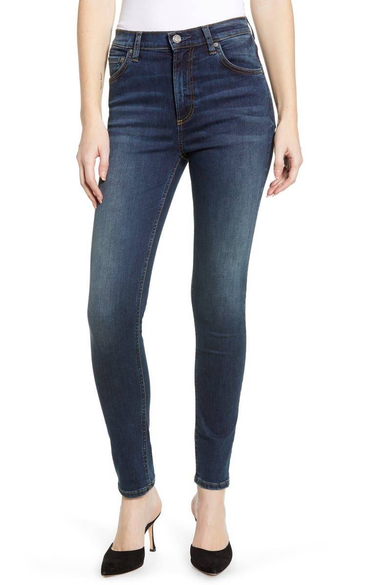 BOYISH JEANS The Donny High Waist Ankle Skinny Jeans, Main, color, NEVER SAY NEVER