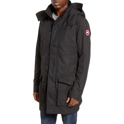 Canada Goose Crew Trench Jacket With Removable Hood, Black