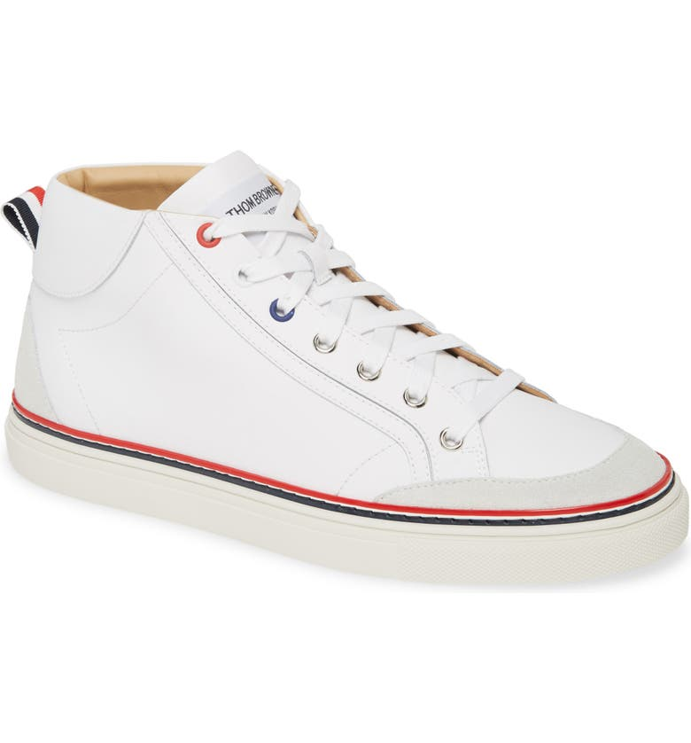 THOM BROWNE High Top Sneaker, Main, color, WHITE