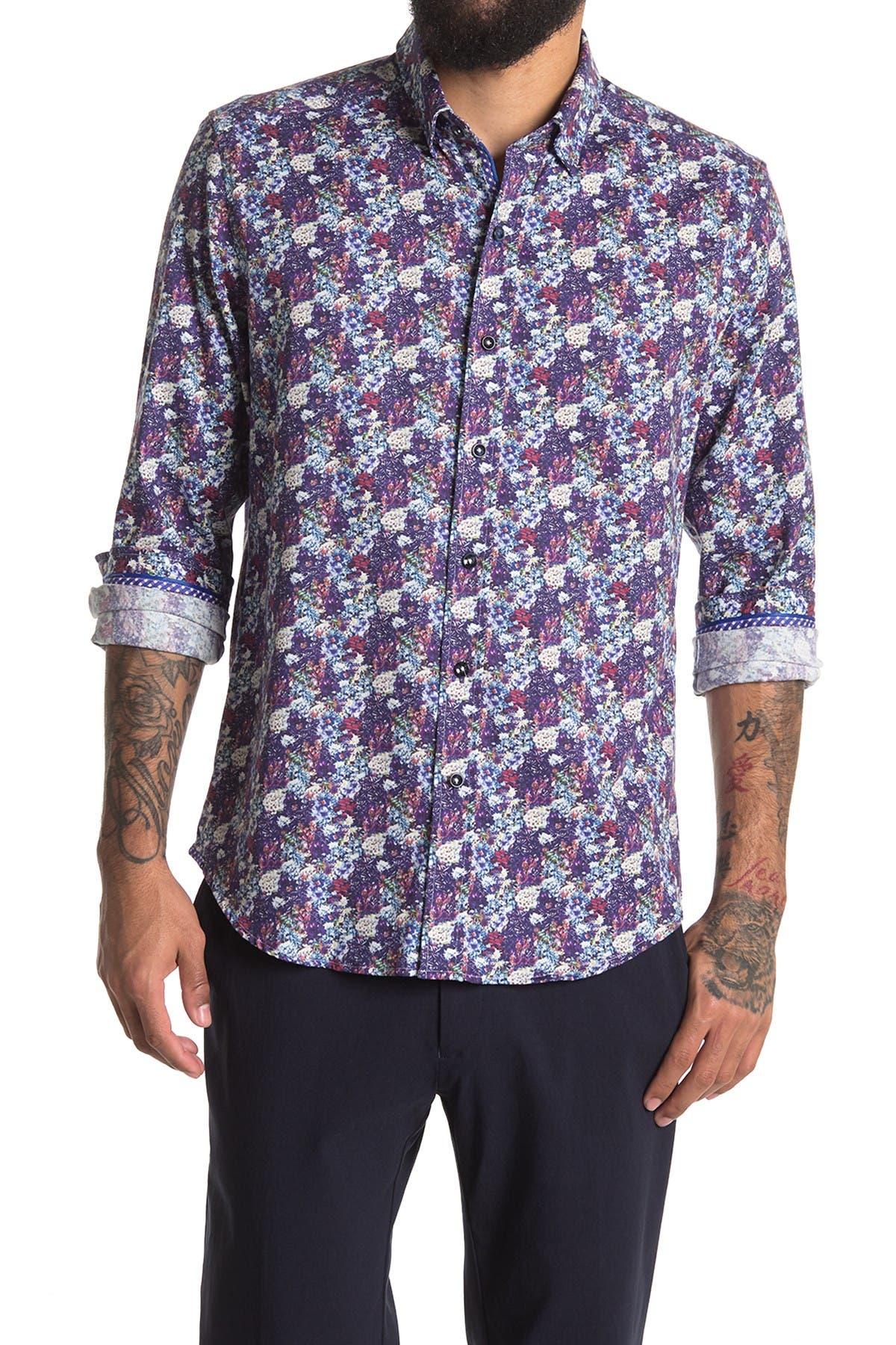 Image of Robert Graham Dunn Long Sleeve Woven Shirt