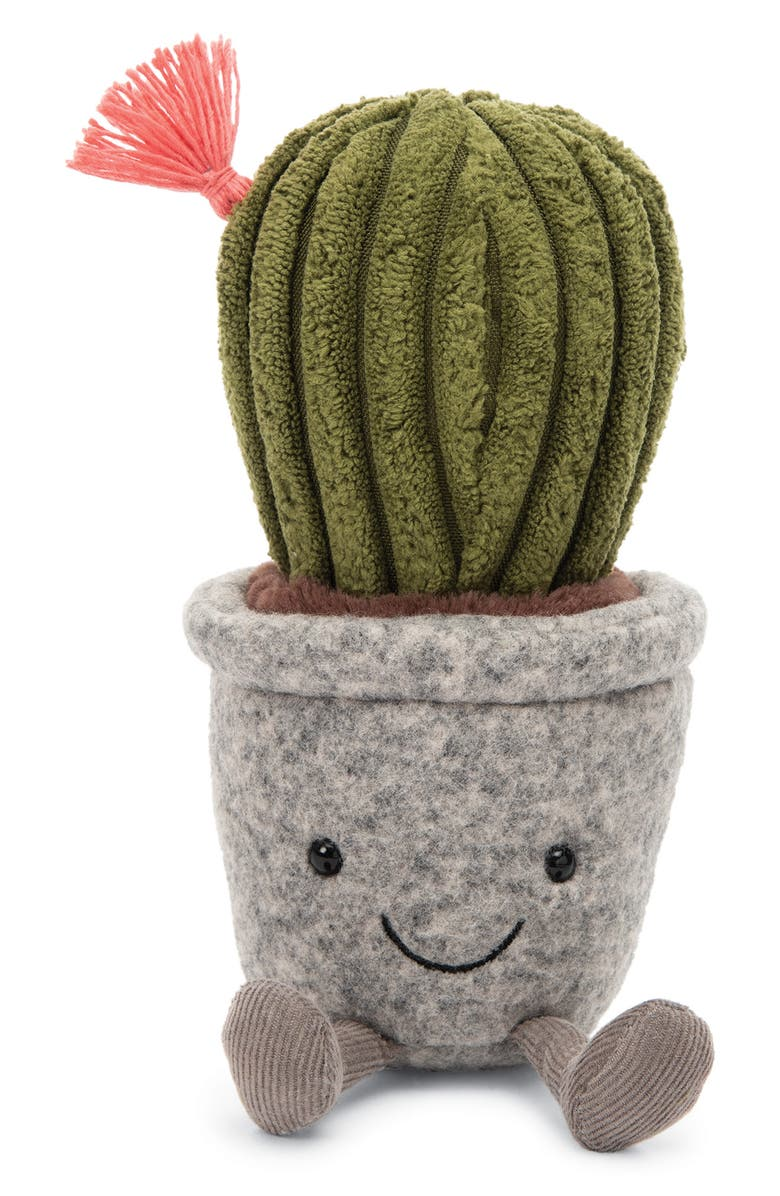 JELLYCAT Silly Succulent Cactus Plush Toy, Main, color, GREEN