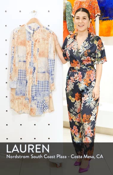 Cora Long Sleeve Silk Shift Dress, sales video thumbnail