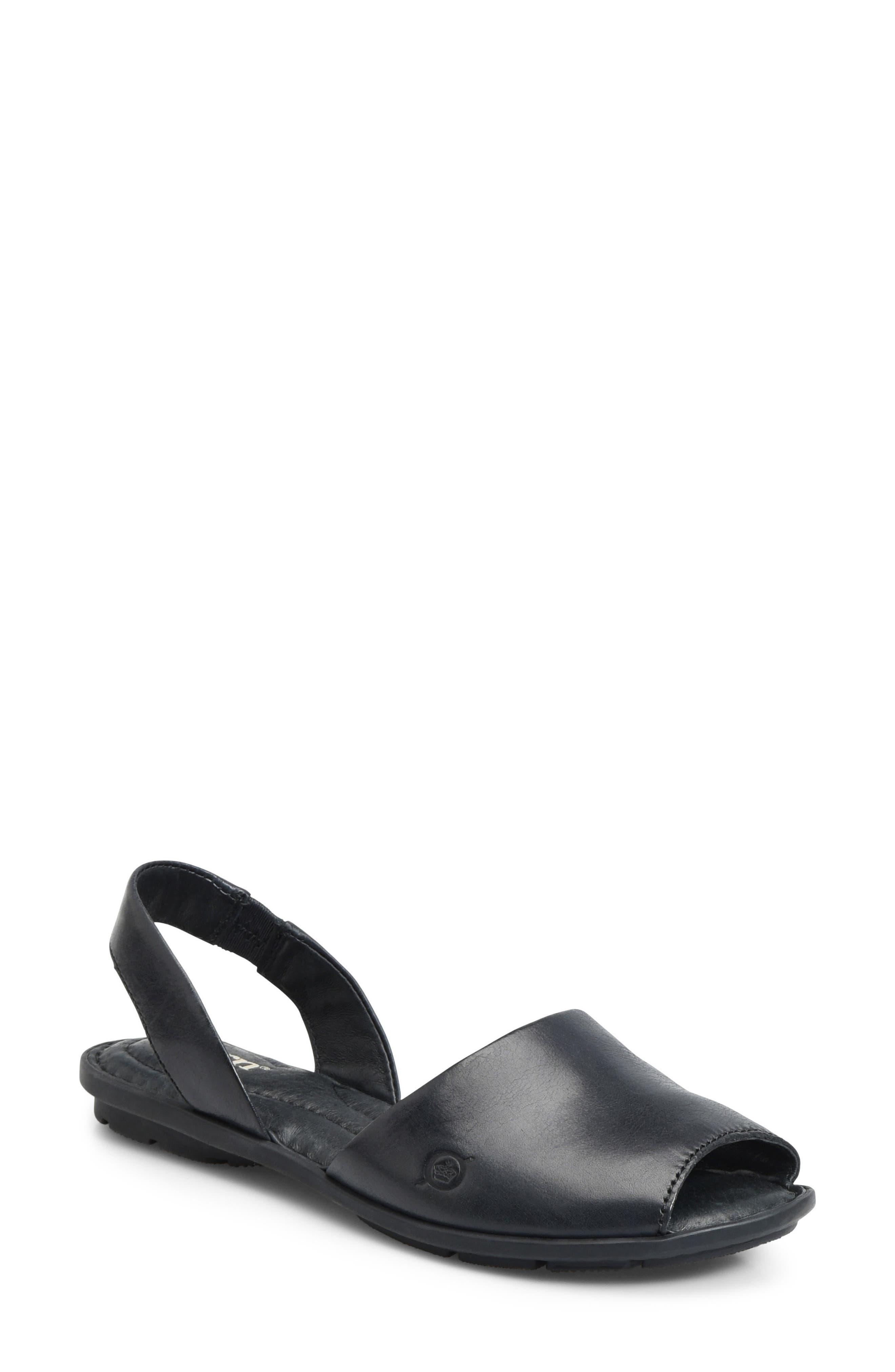 Trang Sandal, Main, color, BLACK LEATHER