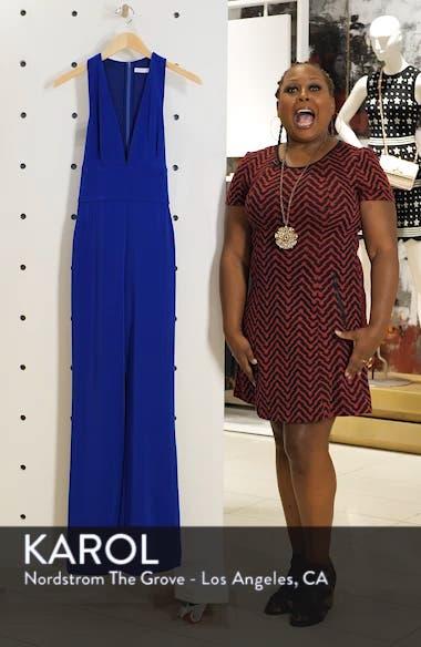 Plunge Neck Tie Waist Jumpsuit, sales video thumbnail