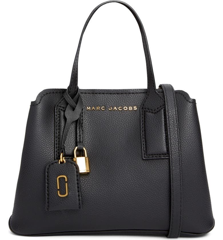 THE MARC JACOBS The Editor 29 Leather Crossbody Bag, Main, color, BLACK