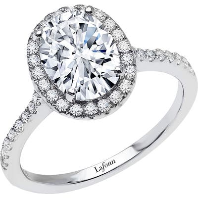 Lafonn Oval Simulated Diamond Halo Ring
