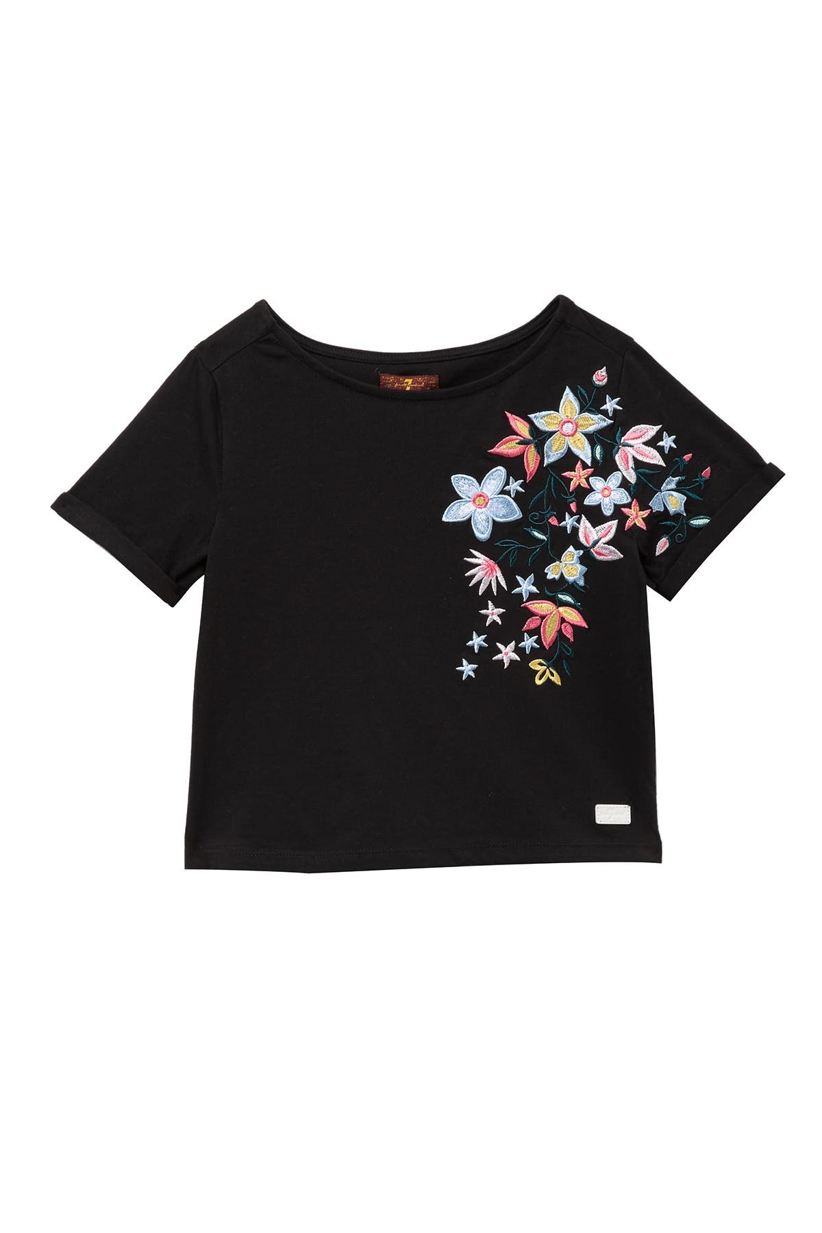 Image of 7 For All Mankind Cropped Embro Tee