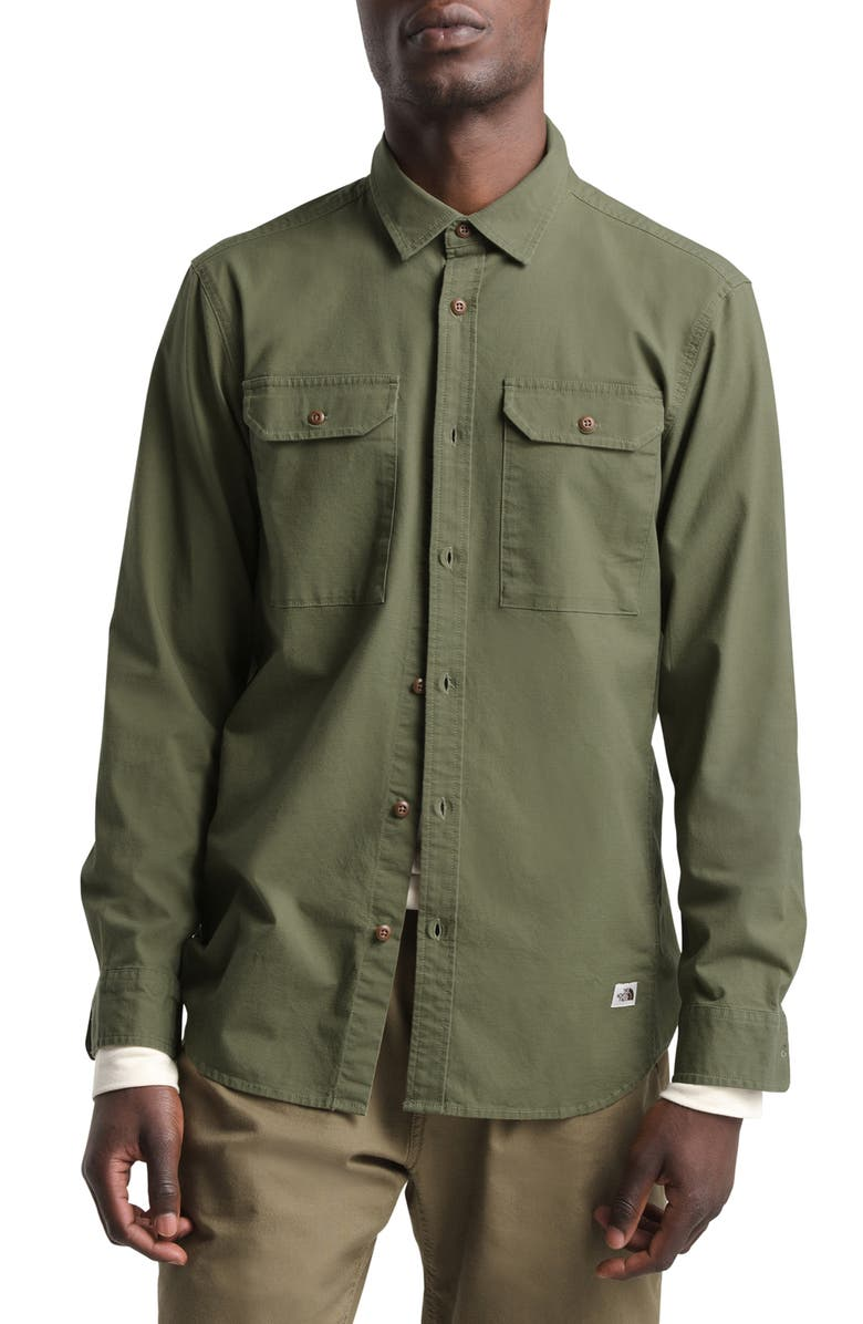 THE NORTH FACE Battlement Utility Shirt, Main, color, BURNT OLIVE GREEN