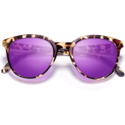 Sunski Makani 50Mm Polarized Sunglasses - Tortoise/ Purple