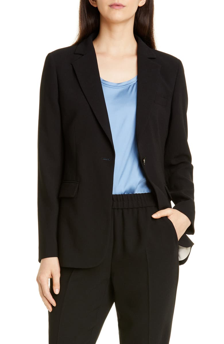 SEVENTY Front Button Blazer, Main, color, BLACK