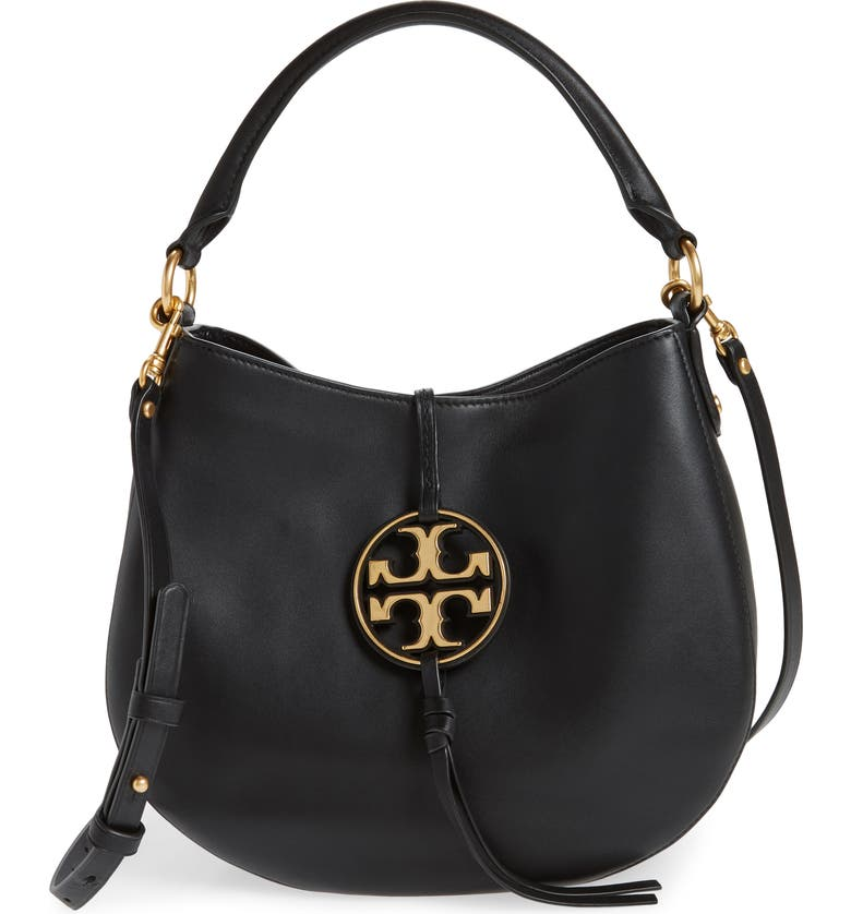 TORY BURCH Mini Miller Leather Hobo Bag, Main, color, 001