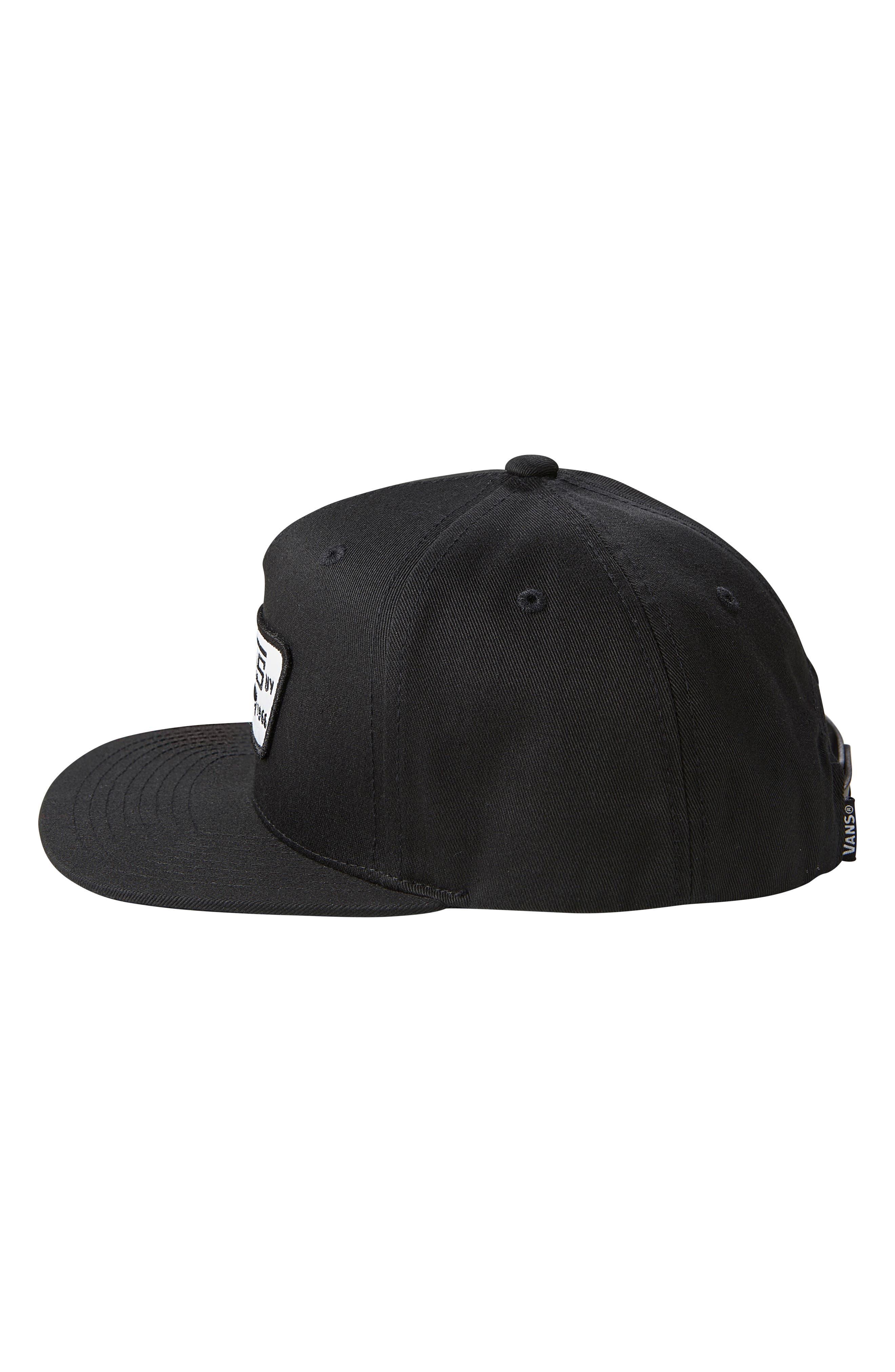 Boys Vans Full Patch Snapback Hat  Black
