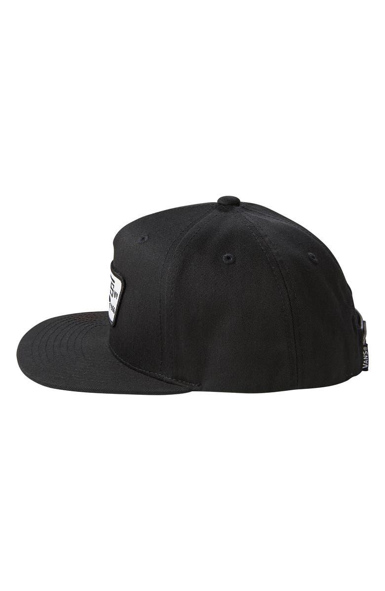 VANS 'Full Patch' Snapback Hat, Main, color, TRUE BLACK