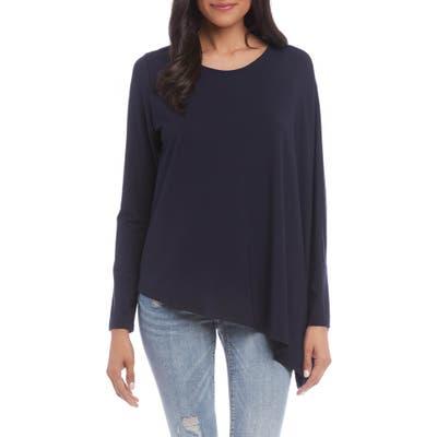 Karen Kane Asymmetrical Jersey Top, Blue