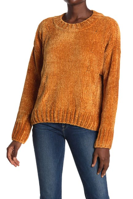 Image of Sanctuary Chenille Cable Knit Sweater