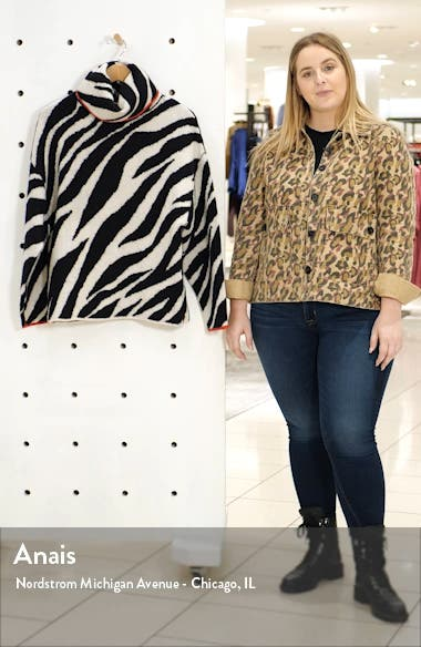Kiki Zebra Jacquard Sweater, sales video thumbnail