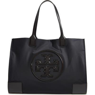 Tory Burch Ella Patent Nylon Tote - Black