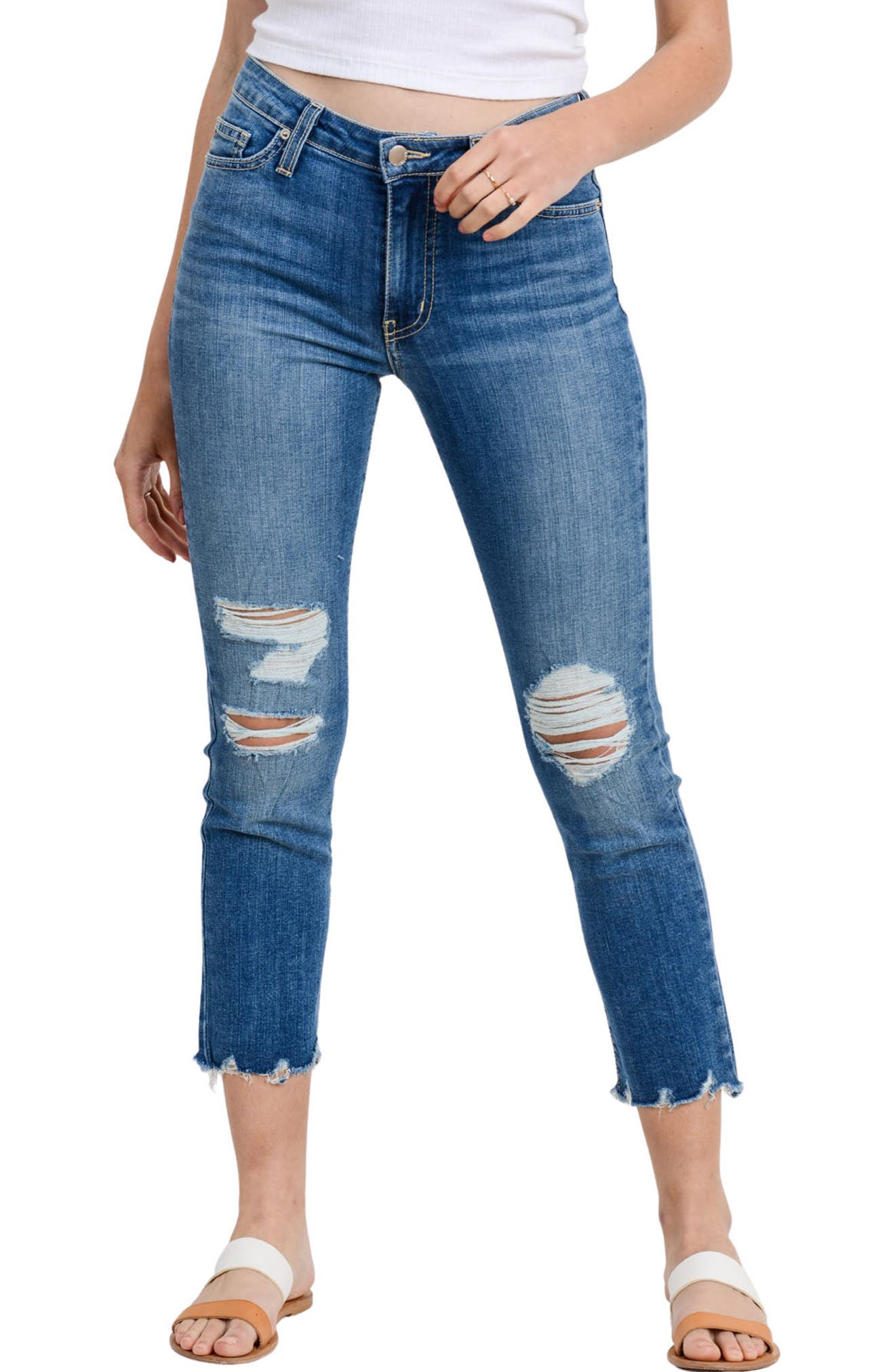 Siena Ripped High Waist Straight Leg Jeans