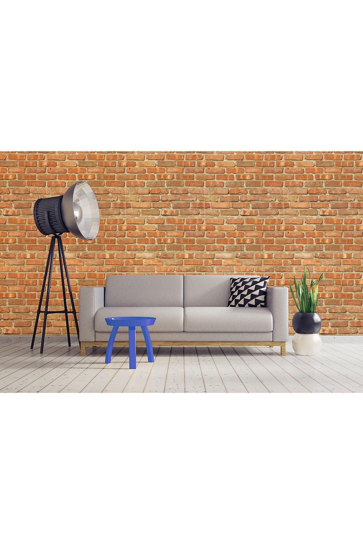 Image of WalPlus London Topaz Brickwall Panel Self Adhesive Wallpaper