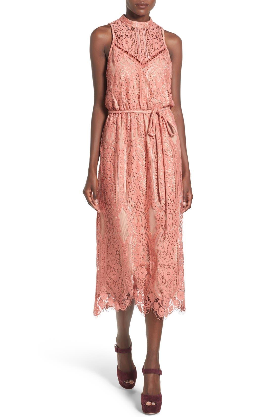 ,                             'Portrait' Lace Midi Dress,                             Main thumbnail 7, color,                             840
