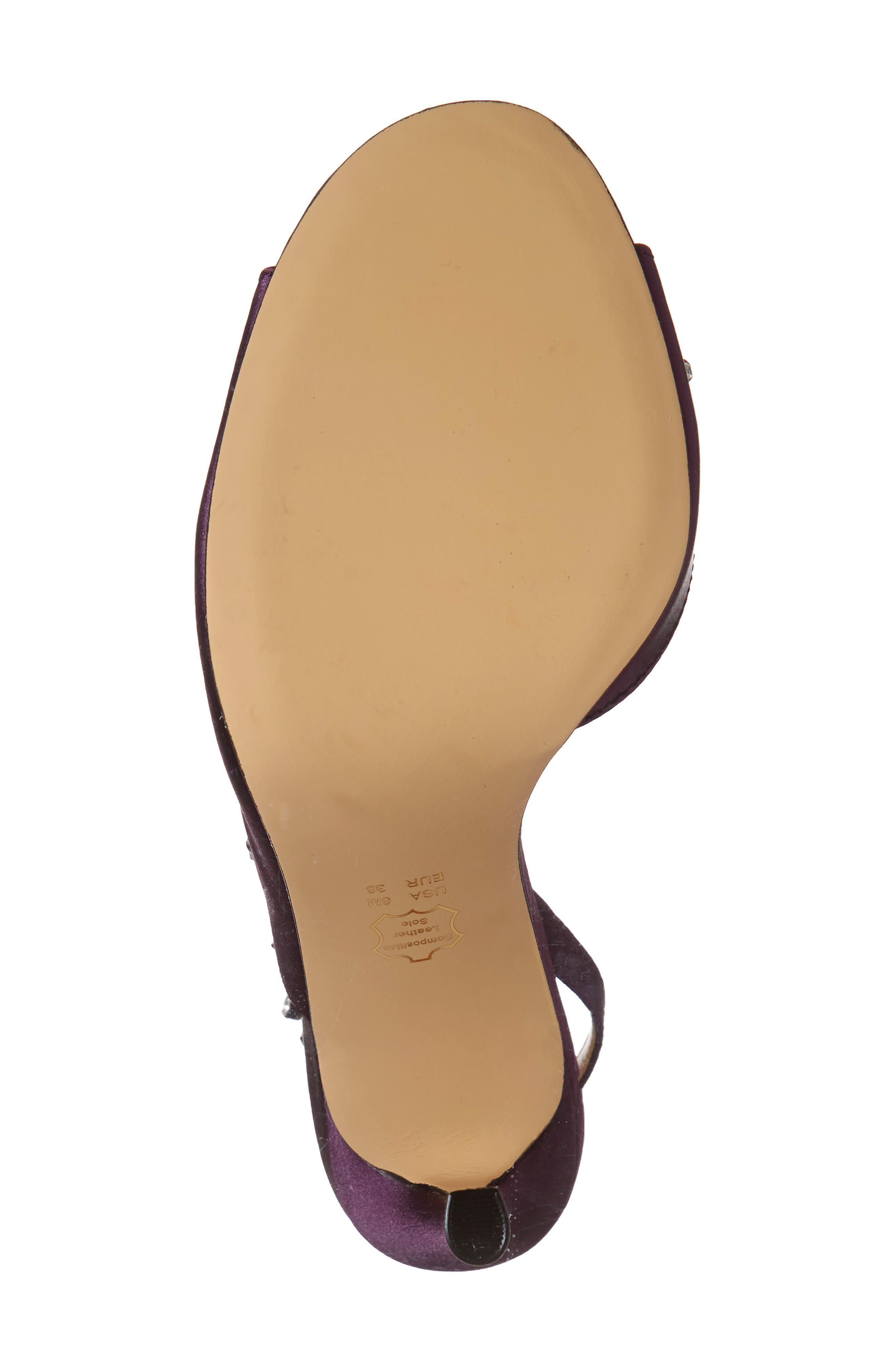 ,                             Deanna Embellished Sandal,                             Alternate thumbnail 6, color,                             EGGPLANT SATIN