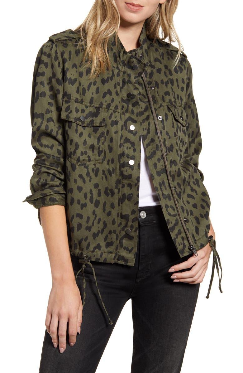 RAILS Collins Military Jacket, Main, color, GREEN LEOPARD