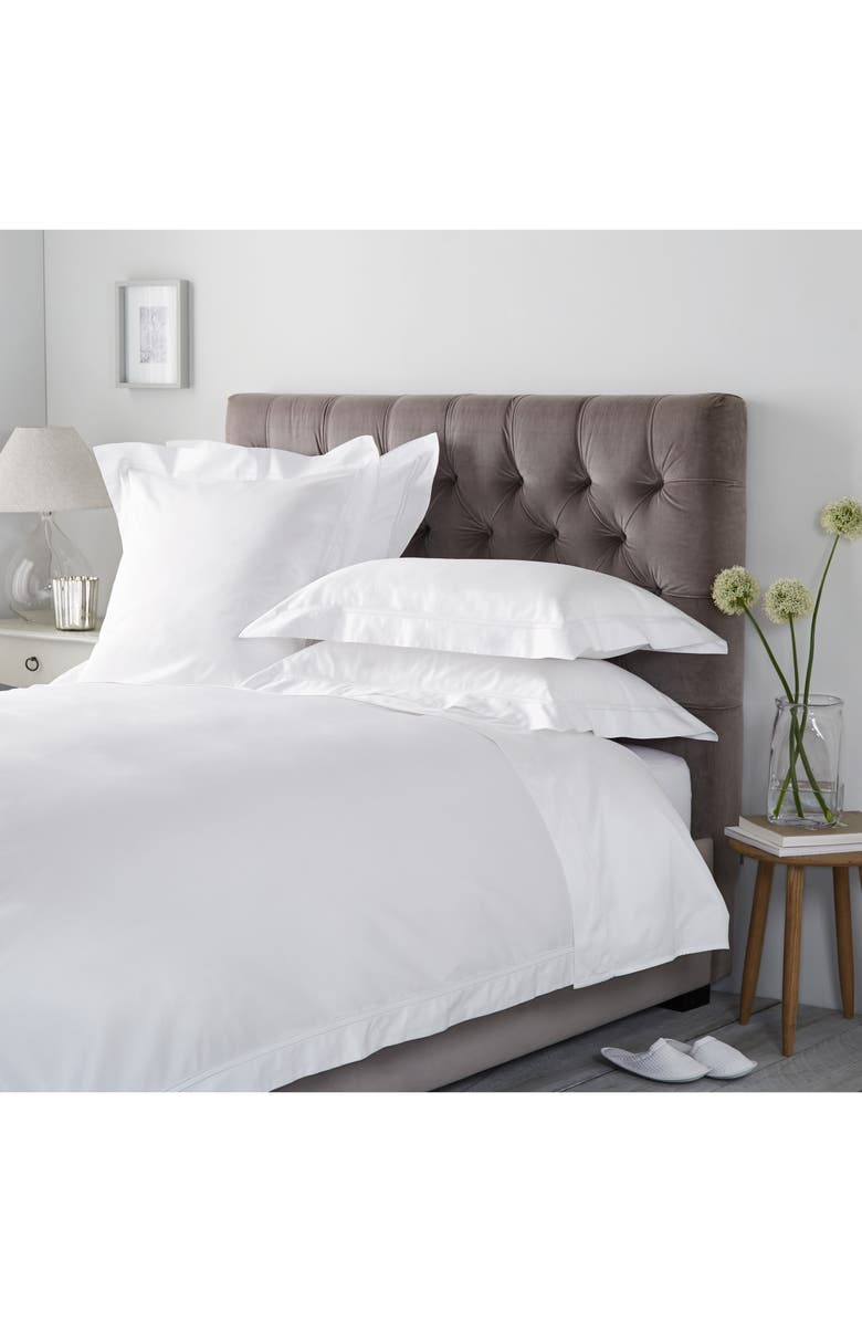 THE WHITE COMPANY Ultimate Symons Duvet Cover, Main, color, WHITE