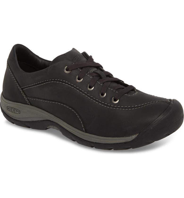 KEEN Presidio II Sneaker, Main, color, BLACK/ STEEL GREY LEATHER