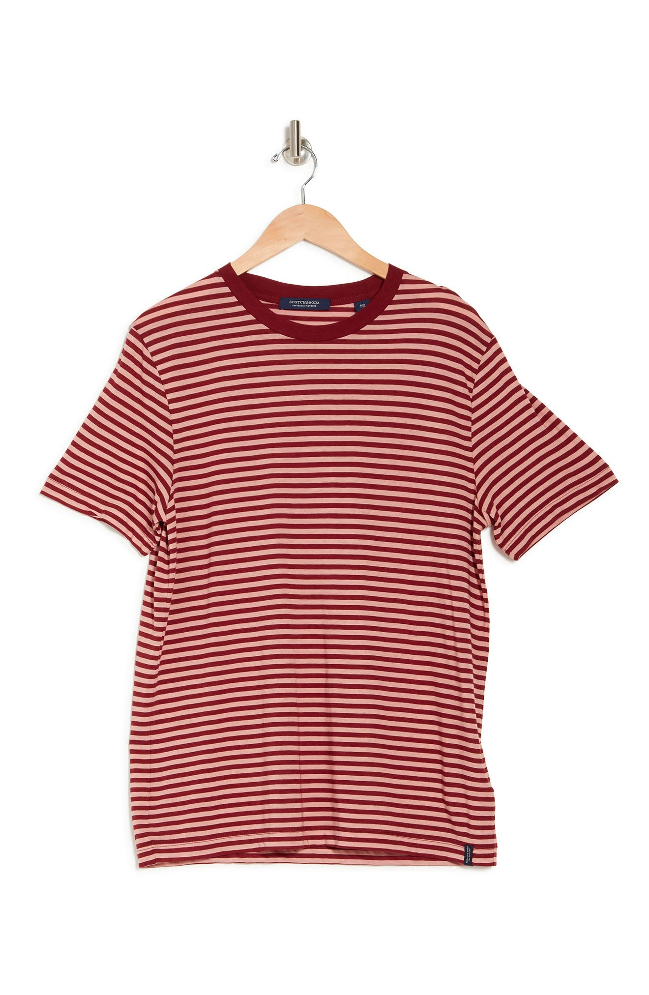1940s Men's Fashion, Clothing Styles SCOTCH AND SODA Stripe Slim Fit T-Shirt Size Xx-Large in Combo A at Nordstrom Rack $34.97 AT vintagedancer.com