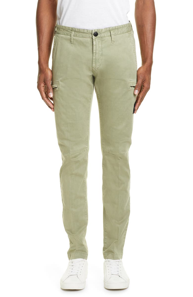 STONE ISLAND Skinny Fit Cargo Chinos, Main, color, 300