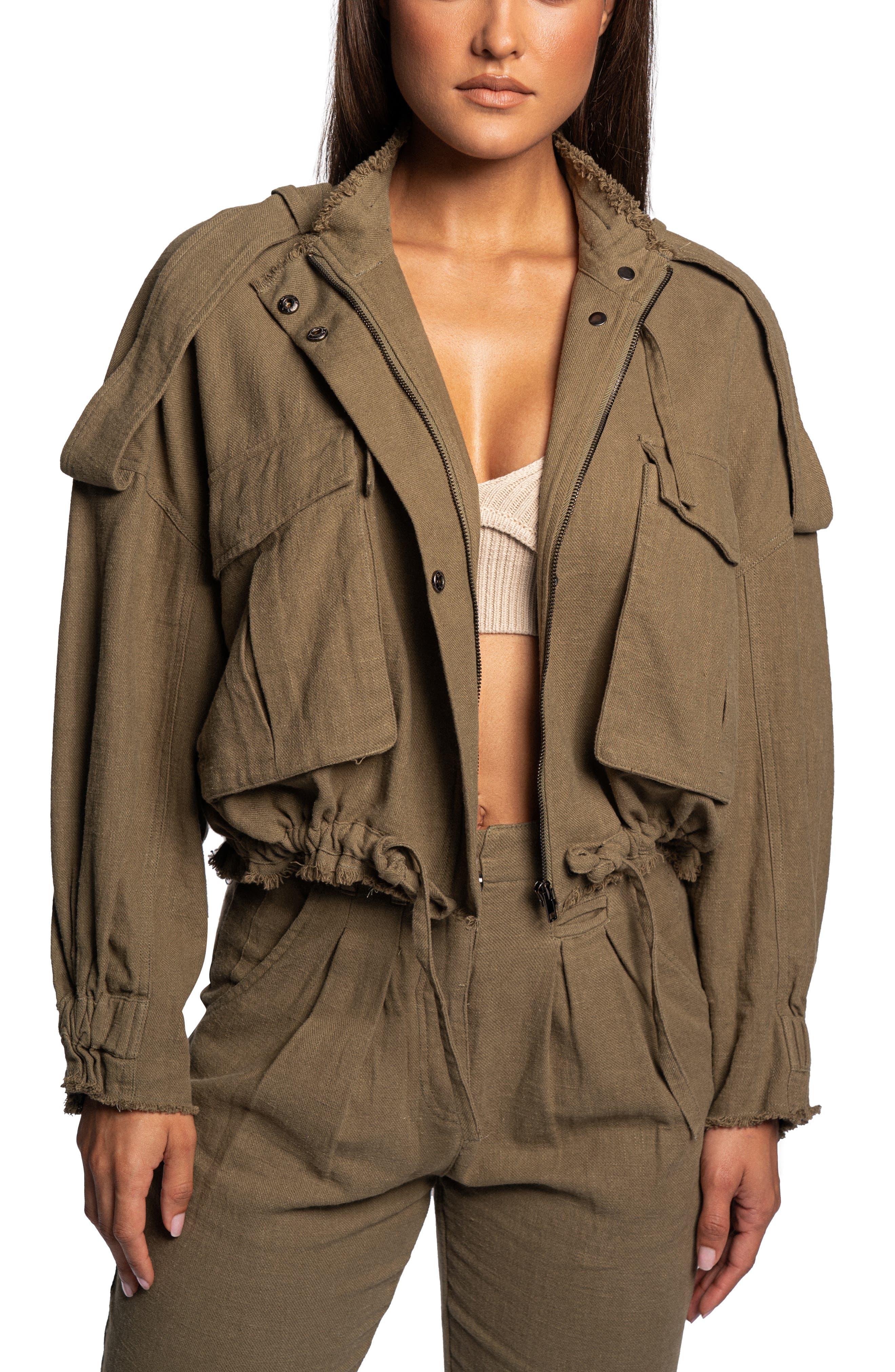 Bridget Linen Blend Utility Jacket