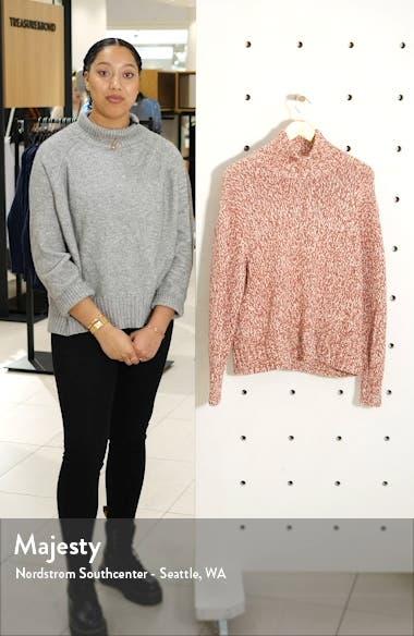 Marled Knit Turtleneck Tunic Sweater, sales video thumbnail