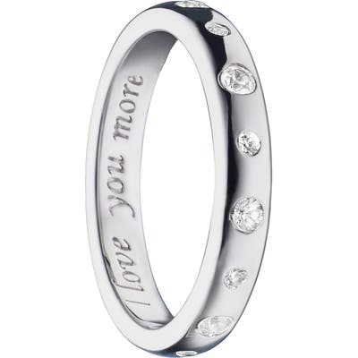 Monica Rich Kosann Love You More White Sapphire Poesy Ring Charm