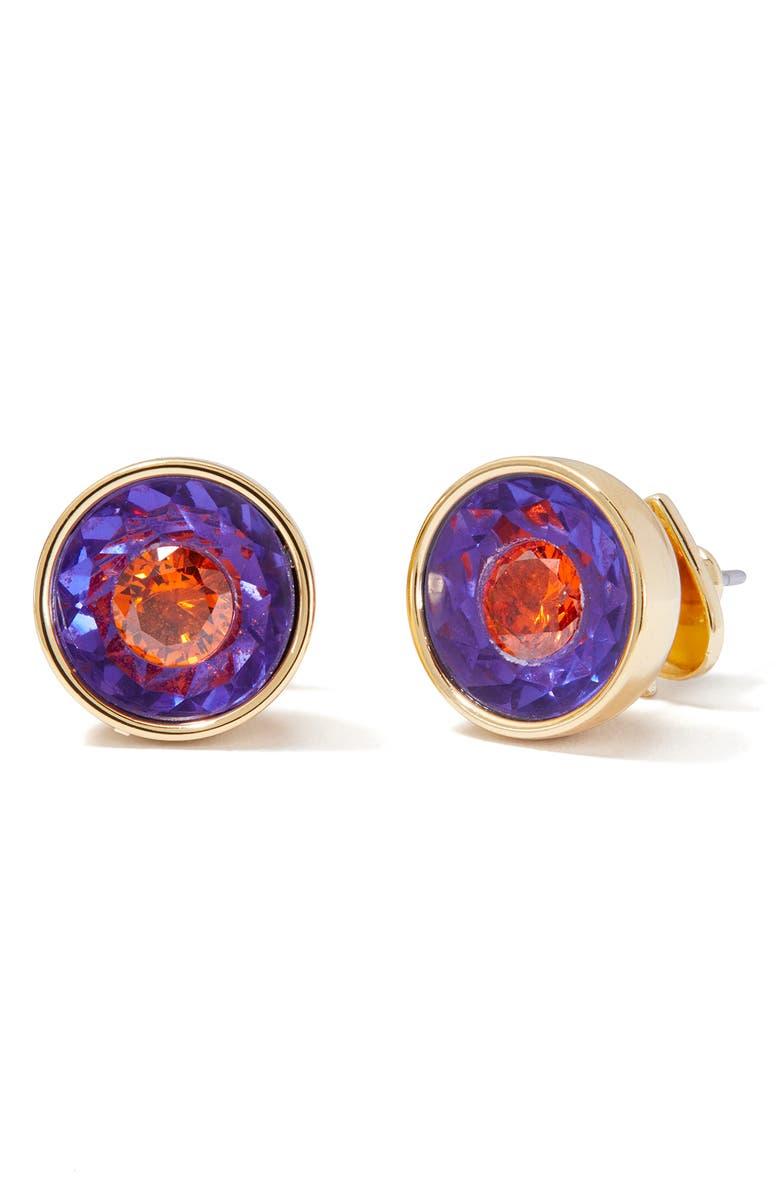 KATE SPADE NEW YORK reflecting pool stud earrings, Main, color, PURPLE MULTI